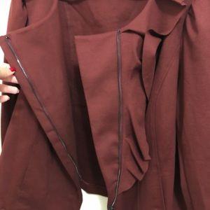 INC International Concepts Jackets & Coats - INC Ruffled Moto Style Jacket